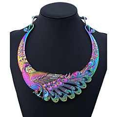 cheap Necklaces-Women's Statement Necklace - Peacock Ladies, Colorful Rainbow 50 cm Necklace Jewelry One-piece Suit For Party, Daily