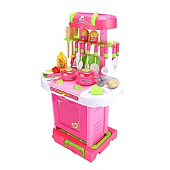 YIJIATOYS Tue so als ob du spielst Lebensmittel einkaufen Haushalt Spielzeug-Küchen-Sets Kinderkochgeräte Spielzeuge Möbel