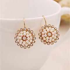 Damskie Kolczyki wiszące Pearl imitacja Rhinestone Słodkie Elegancki Perłowy Stop Biżuteria Na Codzienny Party Wieczór