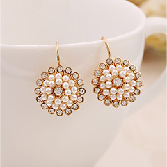 Žene Viseće naušnice Imitacija Pearl Umjetno drago kamenje slatko Elegantno Biseri Legura Jewelry Za Dnevno Večer stranka