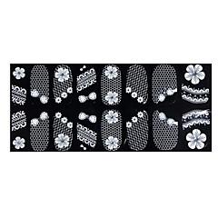 billige Negleklistremerker-nail art klistremerke blonder klistremerke makeup kosmetisk negler kunst design