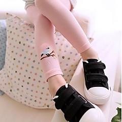 baratos Roupas de Meninas-Para Meninas Calças Todas as Estações Algodão Casual Activo Azul Branco Rosa
