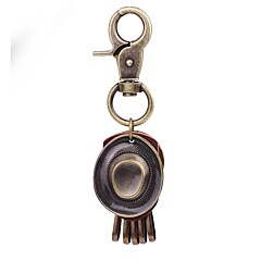 baratos Chaveiros-Chaveiro Dourado Formato Circular Pele, Liga Clássico, Vintage Para Diário / Feriado