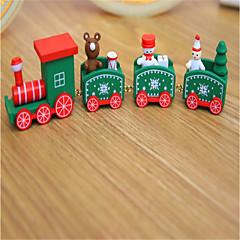 billige Originale moroleker-Julepynt Julegaver Juleleker Tog Leketøy Jul Tog Elk Snømann Ferie Barn Klassisk Snømann Tre 1pcs Deler