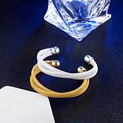 Mulheres Bracelete Pulseiras Algema Vintage Elegant Titânio Formato Circular Infinidade Jóias Para Casamento Noivado Diário Cerimônia