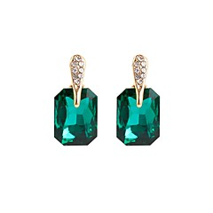 cheap -Women's Crystal Stud Earrings - Crystal Basic Black / Green For Gift / Daily
