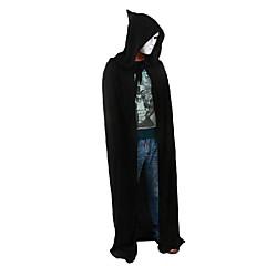 Traje de Halloween Traje de morte Capa de morte negra Capa do diabo Capa preta Capa longa
