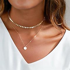 Dame Kort halskæde Halskædevedhæng Cirkelformet Plastik Afslappet Basale Smykker Til Daglig Natklub