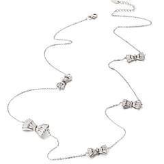 billige Fine smykker-Dame Butterfly Form Zirkonium Sølvbelagt Krave  -  Simple Afslappet Mode Butterfly Form Sølv Halskæder Til Daglig Stævnemøde