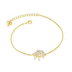 billiga Armband-Dam Strass Guldpläterad Kedje & Länk Armband - Guld Silver Armband Till Bröllop Kvällsfest