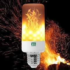 YWXLIGHT® 6W 550-600lm E14 E27 E12 B22 LED Corn Lights T 99 LED Beads SMD 3528 Dimmable Flame Flickering Decorative Warm White 85-265V