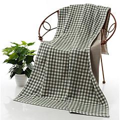 billiga Handdukar och badrockar-Färsk stil Badhandduk, Rutig Överlägsen kvalitet Ren bomull Handduk