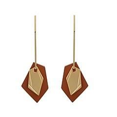 billige Fine smykker-Dame Læder / Sølvbelagt / Guldbelagt Store øreringe - Vintage / Mode Guld / Sølv Geometrisk form Øreringe Til Bar / Stævnemøde