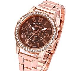 cheap Men's Watches-Men's Women's Quartz Wrist Watch Chinese Casual Watch Metal Band Luxury Casual Black White Pink