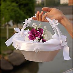 """olcso -virágkosár szatén csipke 8 3/5 """"(22 cm) 1 esküvő gyönyörű"""