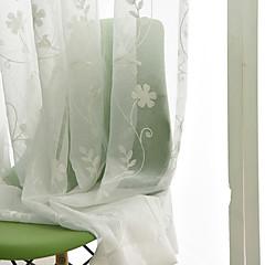 preiswerte Fensterdekoration-Umweltfreundlich Gardinen Shades Drinnen 2*(W183cm×L213cm) / Stickerei / Schlafzimmer