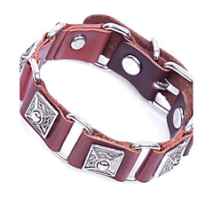 cheap -Men's Bracelet Link Bracelet Vintage Rock Leather Circle Geometric Jewelry For Casual Club