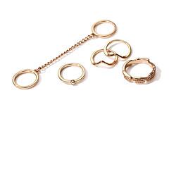 Χαμηλού Κόστους Ring Set-Γυναικεία Δαχτυλίδι για τη μέση των δαχτύλων 5 Χρυσό Κράμα Circle Shape Μεταλλικός Μοντέρνα Άλλα Καθημερινά Κοστούμια Κοσμήματα