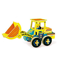 3D Puzzles Excavator Toys Forklift Vehicles Kids 1 Pieces