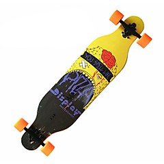 41 Inch Complete Skateboards Artificial Casual/Daily Sports PU Leather/Polyurethane Leather 4-Yellow Orange Black Skulls