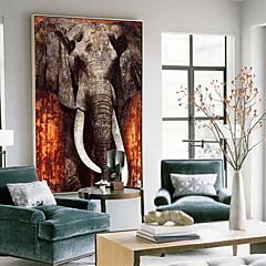 baratos Quadros com Moldura-Animais Pintura de Óleo Arte de Parede,Liga Material com frame For Decoração para casa Arte Emoldurada Sala de Estar