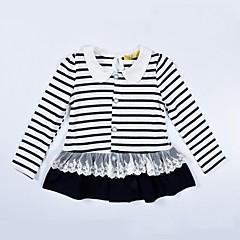 billige Sweaters og cardigans til piger-Baby Pige Aktiv Stribet Langærmet Normal Bomuld Trøje og cardigan Blå 100 / Sødt