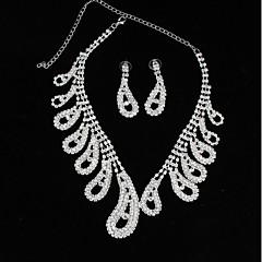 cheap Necklaces-Women's Rhinestone Choker Necklace Chain Necklace - Fashion Drop Necklace For Wedding Party