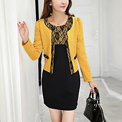 Damen Arbeit Boho Blazer - Patchwork Kleid