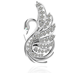 cheap Pins and Brooches-Women's Brooches , Metallic Basic Alloy Irregular Silver Jewelry For Wedding Party