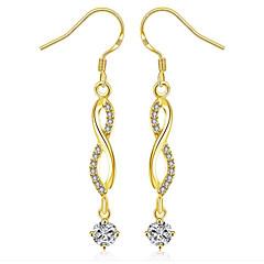 cheap Earrings-Women's Hoop Earrings Cubic Zirconia Rhinestone Gold Zircon Gold Plated Jewelry Wedding Daily Costume Jewelry
