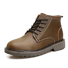 Χαμηλού Κόστους Ξεπούλημα Παπουτσιών-Ανδρικά Παπούτσια άνεσης PU Άνοιξη / Φθινόπωρο Μπότες Αντιολισθητικό Μαύρο / Καφέ