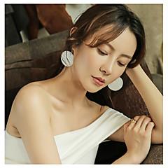 billige Fine smykker-Dame Overdimensionerede Sølv Dråbeøreringe - Overdimensionerede / Mode Hvid / Hvid og Sølv Cirkelformet Øreringe Til Gave / Daglig