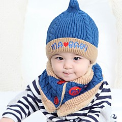 baratos Acessórios para Crianças-Unisexo Conjuntos de Cachecol, Chapéu e Luvas Inverno Outros Azul Rosa