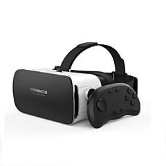 Vr óculos 3d vritual reality shinecon headset vr óculos casco caixa 3d para smartphones com controlador