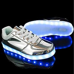 Damskie Obuwie Skóra patentowa Materiał do wyboru Derma Zima Wiosna Comfort Świecące buty Tenisówki Płaski obcas Okrągły Toe na Casual Na
