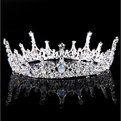 Χαμηλού Κόστους -Κράμα Τιάρες with Τεχνητό διαμάντι Κρυσταλλάκια 1pc Γάμου Πάρτι / Βράδυ Headpiece
