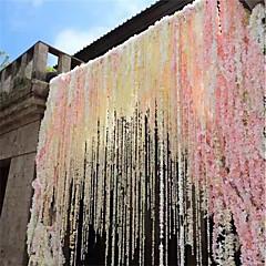 billige Kunstige blomster-1pc 30cm hjem mote kunstig hortensia fest romantisk bryllup dekorative silke kranser av kunstige blomster silke wisteria
