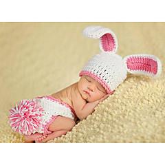billige Sett med babyklær-Baby Pige Aktiv Daglig Ensfarvet Uden ærmer Nylon Tøjsæt Hvid