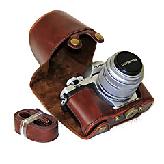 tanie Torby na laptopa-dengpin® pu skóra aparat okładkowej skrzynki torba z paskiem na ramię do aparatu Olympus E-m10 Mark II EM10 Mark2 (różne kolory)