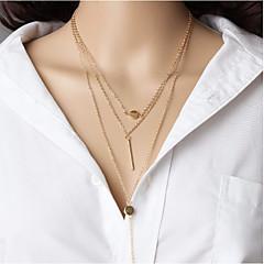 Naisten Geometric Shape Vapaa-aika Etninen Choker-kaulakorut layered Kaulakorut , Metalliseos Choker-kaulakorut layered Kaulakorut ,