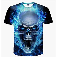 Herrn Totenkopf Motiv - Punk & Gothic Wochenende Klub T-shirt, Rundhalsausschnitt Druck