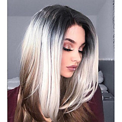 cheap Costume Wigs-Synthetic Lace Front Wig Women's kinky Straight Brown Layered Haircut Synthetic Hair Natural Hairline Brown Wig Long Lace Front Chocolate Uniwigs