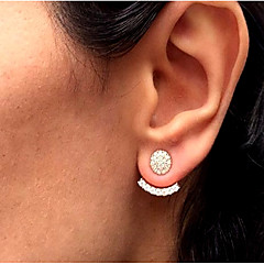 Women S Stud Earrings Front Back Ear Jacket Simple Vintage Fashion Gold Silver For Daily Work