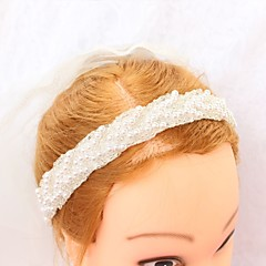 cheap Party Headpieces-Polyester Headpiece with Faux Pearl 1pc Wedding Special Occasion Headpiece