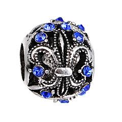 billige Perler og smykkemaking-DIY Smykker 10 stk Perler Strass Legering Hvit Perle Rosa Rød Lyseblå Marineblå Ball Perlene 0.45 cm DIY Halskjeder Armbånd