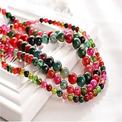 baratos Miçangas & Fabricação de Bijuterias-Jóias DIY 48 pçs Contas Pedras preciosas sintéticas Arco-íris Redonda Bead 1 cm faça você mesmo Colar Pulseiras