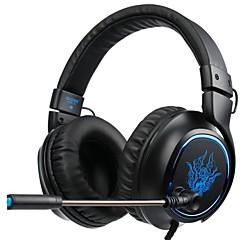 billiga Headsets och hörlurar-SADES R5 Headband Kabel Hörlurar Dynamisk Plast Spel Hörlur mikrofon headset