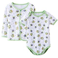 billige Babytøj-Baby Pige Normal Afslappet / Hverdag Blomstret Langærmet Bomuld Tøjsæt