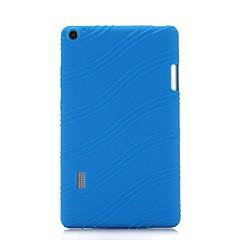 billige Nettbrettetuier&Skjermbeskyttere-Etui Til HUAWEI MediaPad T3 7.0 med stativ Bakdeksel Ensfarget Stripet Myk Silikon til Huawei MediaPad T3 7.0