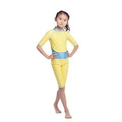 tanie Odzież dla dziewczynek-Dzieci Dla dziewczynek Na co dzień / Aktywny Sport Jendolity kolor / Patchwork Rękaw 1/2 Odzież kąpielowa